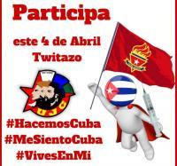 Twitazo por el 4 de abril en los Joven Club de Campechuela.