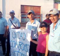 Activa participación de los trabajadores masoences en el desfile y actividades por el 1ro de Mayo.