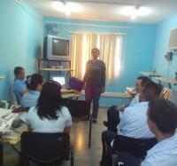 Tema de capacitación general, en Buey Arriba, con la participación de la Secretaria del Sindicato de las comunicaciones en Granma