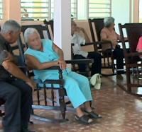 Intercambio de Joven Club con Hogar de ancianos de Jiguaní