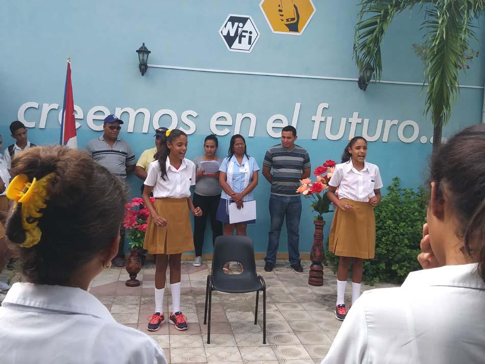 Acto en Campechuela por el aniversario 31 de la creación de lo Joven Club.
