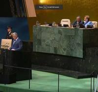 Trabajadores de Yara apoyan el discurso pronunciado por el presidente cubano Miguel Días-Canel en la Asamblea General de la ONU.