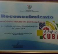 Reconocen a los Joven Club de Granma por resultados obtenidos en el verano 2018.