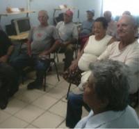 Encuentro con integrantes del Geroclub en el Palacio de las Tecnologías en Manzanillos.