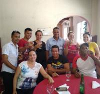 Almuerzo de los trabajadores de los Joven Club de Campechuela.