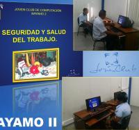 Jornada Seguridad y Salud en el Trabajo en el Joven Club Bayamo II.