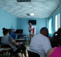 Capacitación sobre Prevención contra Incendios en el Joven Club Campechuela 1.