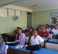 Miembros de la UIC de Buey Arriba debaten sobre discurso de Diáz-Canel