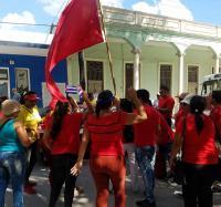 Recibida en Jiguaní la bandera por el XXI Congreso de la CTC