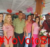 Los trabajadores de Joven Club en Campechuela apoyan el Referendo Constitucional.