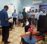 Trabajadores de Joven Club en Campechuela respaldan gobierno constitucional de Venezuela.