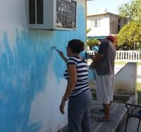 En saludo al 1ro de Mayo los Joven Club en Jiguaní acometen tareas de embellecimiento