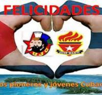 Celebrando aniversario de la UJC y OPJM en el JC Manzanillo IV