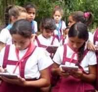Actividad Central en Buey Arriba por el Día Internacional de las Niñas y las TIC en la Comunidad de Villa Blanca.