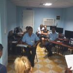 Trabajadores de Joven Club en Campechuela desarrollan su asamblea de afiliados.