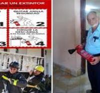Se preparan los trabajadores del Club Yara III en la semana nacional de protección contra incendios.
