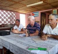 Asociación de Combatientes de la Revolución Cubana (ACRC) en Buey Arriba en proceso de balance