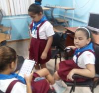 Actividad con niños débiles visuales en Bayamo VIII