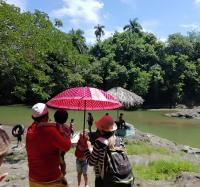 Visitan trabajadores Joven Club Campechuela en este Verano 2019 el Campismo Popular el Salto