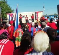 Acto por la sede del 26 de Julio en la comunidad ¨Vado del Yeso¨