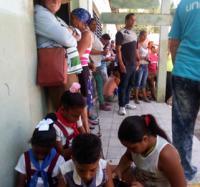 Joven Club Bartolomé Masó desarrollando actividades sociales en el plan Turquino.