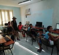 Actividades en homenaje a Fidel y al Día Internacional de la Juventud en el Joven Club manzanillo IV