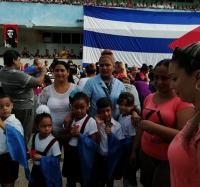 Homenaje al aniversario 42 de la caída de Ernesto Che Guevara en el Joven Club Manzanillo IV