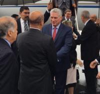 Presidente cubano Miguel Díaz-Canel llega a México en visita oficial (+ Fotos y Video)