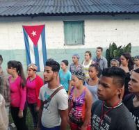 Charla sobre servicios de Joven Club con estudiantes del IPU Guillermo González Polanco de Guisa