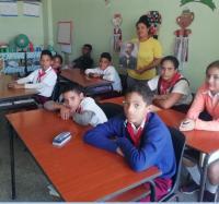 Los trabajadores del Joven Club Río Cauto III realizan conversatorio con estudiantes del Círculo de Interés y discapacitados en Homenaje al 167 Aniversario del Natalicio de José Martí.