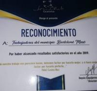 Reconocidos Joven Club de Computación y Electrónica (JCCE) Bartolomé Masó por los resultados alcanzado en el  2019.