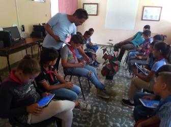 Concluye satsfactoriamente curso de tablet en Aula Anexa de La Estrella - Joven Club Granma