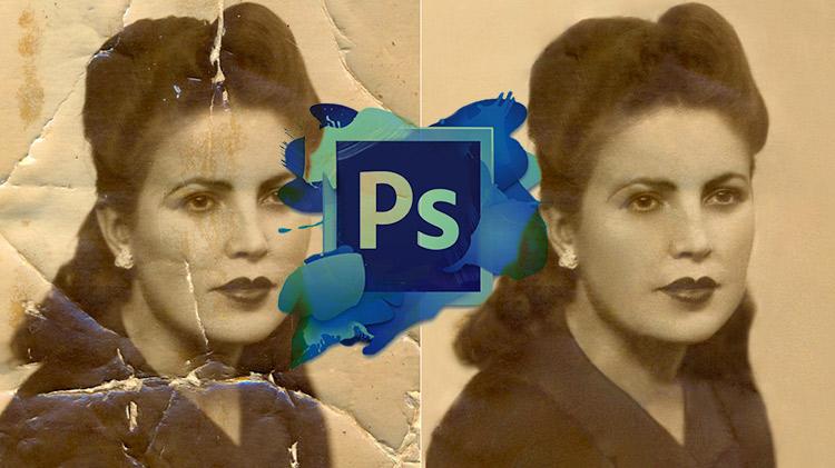 Restauración digital de imágenes y documentos.