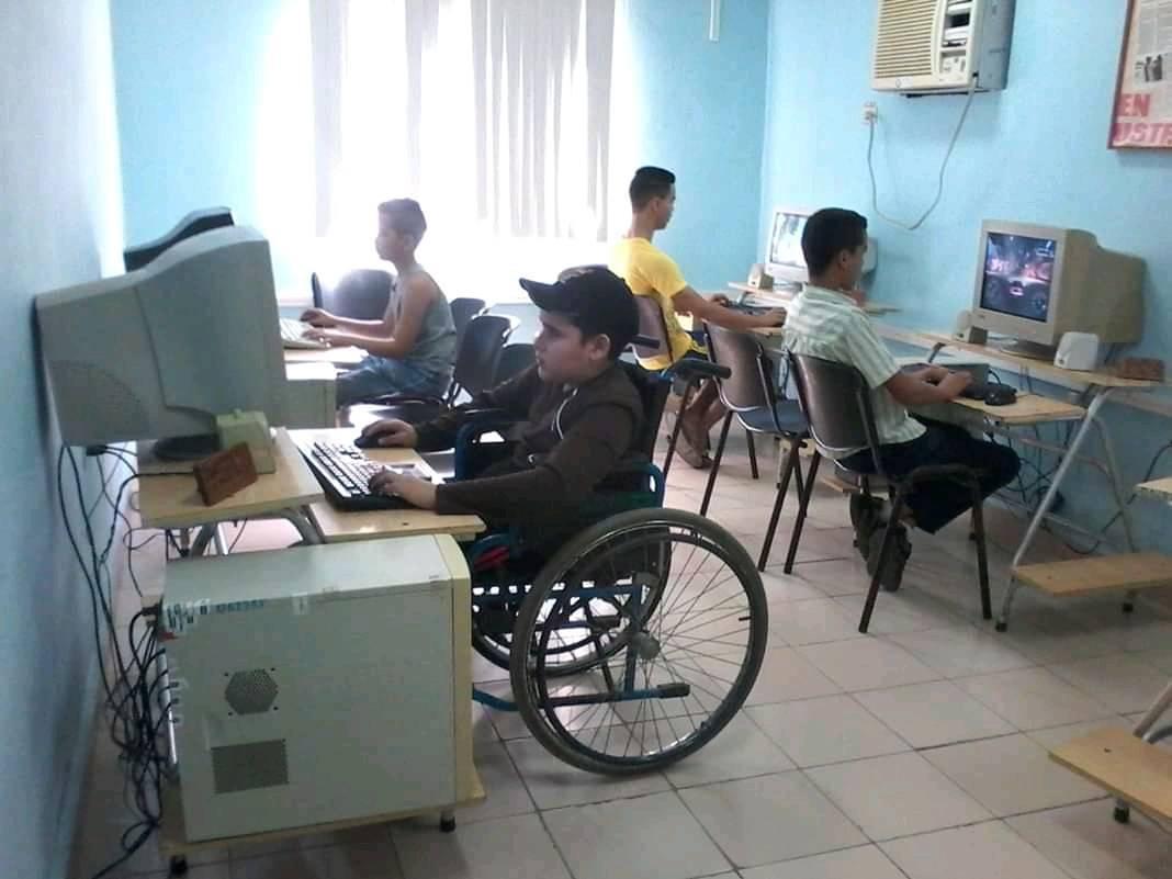 Actividad  con  personas con  discapacidad.