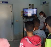 Charla educativa en el Joven Club Manzanillo IV