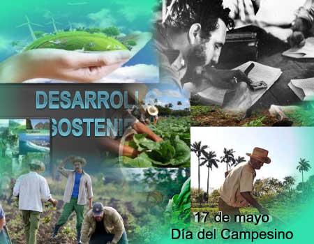 Cuba  por   un desarrollo sostenible,  celebrando el día del campesino