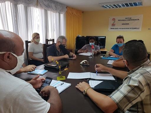 Secretaria Nacional de las Comunicaciones se reúne  en la Dirección Provincial de Joven Club GRANMA con delegados que participarán en la 2da Conferencia Nacional.
