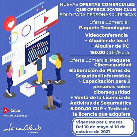 Promoción de los paquetes de Ciberseguridad y Tecnológico en los Joven Club de Manzanillo