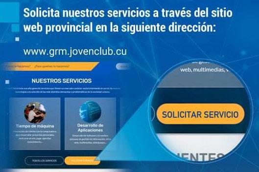 Solicitud de servicios a través de Plataforma Digital en los Joven Club de Granma