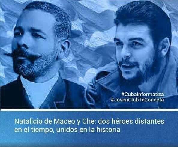 Recuerdan en los Joven Club de Campechuela natalicio de Maceo y Che