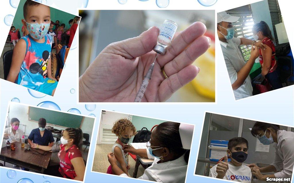 Cuba a la vanguardia en la vacunación infantil.