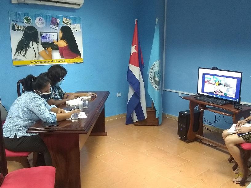 Desarrollada videoconferencia de la Federación de Mujeres Cubanas en el Palacio de Computación.