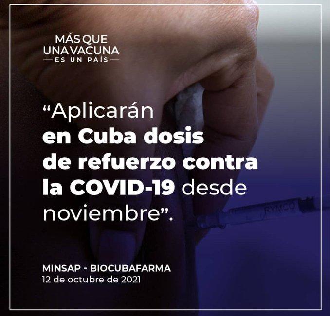 Aplicarán en Cuba dosis de refuerzo anti-COVID-19 desde noviembre. - joven club granma